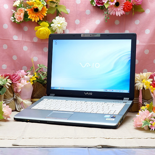 VAIO VGN-FJ22B (Celeron M 1.60GHz/2GB/160GB/DVDマルチ/Windows7Pro32bit/14.1インチ/無線LAN)