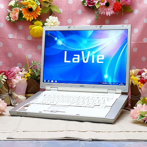 LaVie LL550/G (Sempron 3200+ 1.60GHz/2GB/100GB/DVDマルチ/Windows7Pro32bit/15.4インチ/無線LAN)