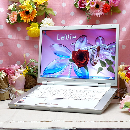 LaVie LL550/J (Sempron 3400+ 1.80GHz/2GB/120GB/DVDマルチ/Windows7Pro32bit/15.4インチ/無線LAN)