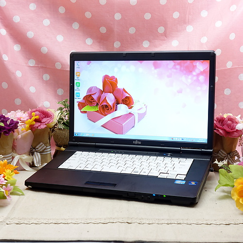 LIFEBOOK A561/C [C品] (Core-i3 2.10GHz/4GB/120GB/DVD-ROM/Windows7Pro64bit/15.6インチ/外付無線LAN)